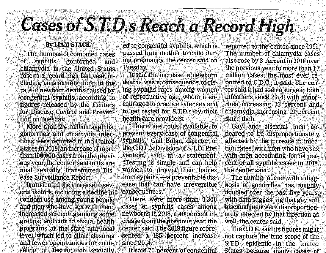 STI's in US at Record Highs